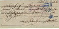 Movie/TV Memorabilia:Autographs and Signed Items, A Marilyn Monroe Handwritten Check, 1954....