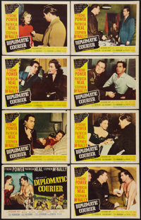 "Diplomatic Courier (20th Century Fox, 1952). Lobby Card Set of 8 (11"" X 14""). Drama. ... (Total: 8 Items)"