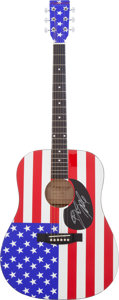 Music Memorabilia:Autographs and Signed Items, Bruce Springsteen Autographed Acoustic Guitar...