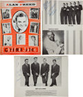 Music Memorabilia:Autographs and Signed Items, Everly Brothers and Others Signed Christmas Jubilee Program,1957....