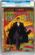 Golden Age (1938-1955):Classics Illustrated, Classic Comics #3 The Count of Monte Cristo - first edition(Elliot, 1942) CGC VG+ 4.5 Cream to off-white pages....