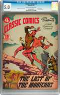 Golden Age (1938-1955):Classics Illustrated, Classic Comics #4 The Last of the Mohicans - first edition(Gilberton, 1942) CGC VG/FN 5.0 Cream to off-white pages....