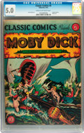 Golden Age (1938-1955):Classics Illustrated, Classic Comics #5 Moby Dick - first edition (Gilberton, 1942) CGC VG/FN 5.0 Cream to off-white pages....