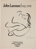 "Music Memorabilia:Original Art, The Beatles: John Lennon ""Bag One"" Litho Set from Amsterdam (1970). ..."