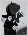 Movie/TV Memorabilia:Autographs and Signed Items, A Margaret Hamilton Signed Black and White Photograph, Circa1960s....