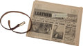 "Music Memorabilia:Memorabilia, Buddy Holly's Childhood Belt and Residence-Addressed Issue of ""Leathercraft News.""..."