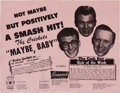 Music Memorabilia:Memorabilia, Buddy Holly and the Crickets Original Flyer. ...
