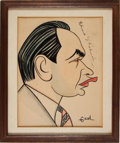 Movie/TV Memorabilia:Autographs and Signed Items, An Edward G. Robinson Signed Caricature....