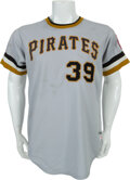 Baseball Collectibles:Uniforms, 1975-76 Willie Stargell/Dave Parker Game Worn Pittsburgh Pirates Jersey....