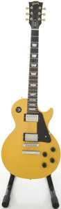 Musical Instruments:Electric Guitars, 1990 Gibson Les Paul Studio Yellow Solid Body Electric Guitar, #92210438....