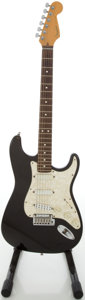 Musical Instruments:Electric Guitars, 1996 Fender Stratocaster Plus Black Solid Body Electric Guitar,#N6187983....