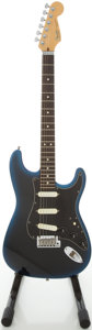 Musical Instruments:Electric Guitars, 1991 Fender Stratocaster Plus Blueburst Solid Body Electric Guitar,#N1036201....