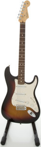 Musical Instruments:Electric Guitars, 2004 Fender HWY 1 Stratocaster Sunburst Solid Body Electric Guitar,#Z4214219....