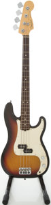 Musical Instruments:Bass Guitars, 2003 Fender Precision Bass Sunburst Electric Bass Guitar, #Z3086550....