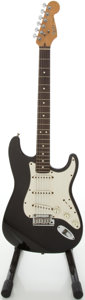 Musical Instruments:Electric Guitars, 1993 Fender Stratocaster Black Solid Body Electric Guitar,#N3128173....