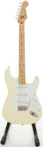 Musical Instruments:Electric Guitars, 1987 Squier by Fender Stratocaster Olympic White Solid BodyElectric Guitar, #E715511....