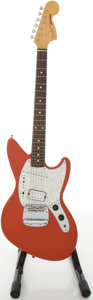 Musical Instruments:Electric Guitars, 1996 Fender Jag-Stang Red Solid Body Electric Guitar, #V021661....