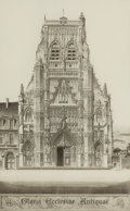 Prints:Contemporary, JOHN TAYLOR ARMS (American, 1887-1953). Gloria EcclesiaeAntiquae (the church of Saint Riquier), 1937. Etching. Image:1...