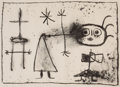 Fine Art - Work on Paper:Print, JOAN MIRÓ (Spanish, 1893-1983). Young Gin, 1948. Lithograph.10-1/4 x 14-3/4 inches (25.9 x 37.3 cm). Ed. 2/50. Numbered...
