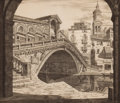 Prints, JOHN TAYLOR ARMS (American, 1887-1953). Shadows of Venice, 1930. Etching and aquatint. Image: 10-1/4 x 11-3/4 inches (26...