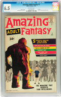 Silver Age (1956-1969):Science Fiction, Amazing Adult Fantasy #7 (Marvel, 1961) CGC FN+ 6.5 Off-white pages....
