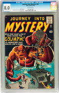 Silver Age (1956-1969):Horror, Journey Into Mystery #63 (Marvel, 1960) CGC VF 8.0 Off-whitepages....