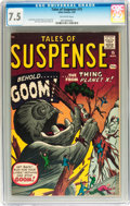Silver Age (1956-1969):Science Fiction, Tales of Suspense #15 (Marvel, 1961) CGC VF- 7.5 Off-white pages....