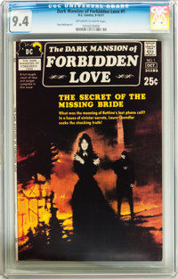 Dark Mansion of Forbidden Love #1 (DC, 1971) CGC NM 9.4 Off-white to white pages