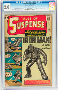 Tales of Suspense #39 (Marvel, 1963) CGC GD 2.0 Light tan to off-white pages