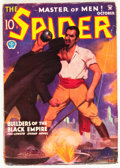 Pulps:Hero, The Spider - October 1934 (Popular, 1934) Condition: VG....