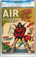 Golden Age (1938-1955):War, Air Fighters Comics #12 (Hillman Fall, 1943) CGC VF+ 8.5 Off-whiteto white pages....