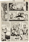 Original Comic Art:Panel Pages, John Romita Jr. and Dave Simons The Amazing Spider-Man #245 Page 14 Original Art (Marvel, 1983)....