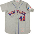 """Baseball Collectibles:Uniforms, Tom Seaver """"HOF '92"""" Signed New York Mets Jersey...."""