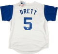 Baseball Collectibles:Uniforms, George Brett Signed Kansas City Royals Jersey....