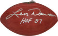 """Football Collectibles:Balls, Len Dawson Signed NFL """"Wilson"""" Leather Game Ball...."""