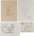 Original Comic Art:Sketches, Chuck Jones, Mort Walker, Roger Armstrong, Johnny Hart, Tom Moore,Don Trachte, Jim Unger, Don Addid, and Cathy Guisewite Comi...(Total: 9 Original Art)