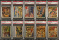 "Non-Sport Cards:Lots, 1938 R69 Gum, Inc. ""Horrors of War"" PSA Graded ""High Numbers"" Collection (10). ..."