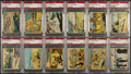 "Non-Sport Cards:Lots, 1941 R157 Gum, Inc. ""Uncle Sam"" PSA Graded Collection (12). ..."