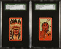 "Non-Sport Cards:Lots, Rae 1912 T74 Booker Tobacco ""Indians"" SGC Graded pair (2). ..."