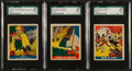 "Non-Sport Cards:Lots, 1948 Leaf ""Pirates"" SGC 92 NM/MT+ 8.5 Trio (3). ..."