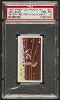 """Boxing Cards:General, 1957 Sweetule Products """"Sports Records"""" Blue Back #21 Joe Louis -PSA NM-MT 8...."""