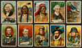 "Non-Sport Cards:Sets, 1910-12 T68 Pan Handle Scrap ""Heroes of History"" Complete Set (50)...."