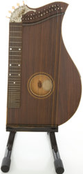 Musical Instruments:Banjos, Mandolins, & Ukes, 1900's Washburn New Model Zither Walnut, #1509....