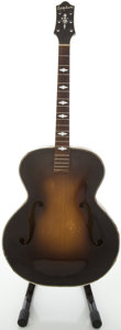 Musical Instruments:Acoustic Guitars, Circa 1937 Epiphone Triumph Sunburst Archtop Acoustic Guitar,#11035....