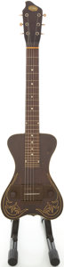 Musical Instruments:Lap Steel Guitars, Circa 1940's Oahu Brown Lap Steel Guitar....
