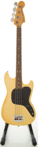 Musical Instruments:Bass Guitars, 1978 Fender Musicmaster Bass Cream Electric Bass Guitar, #S835395....