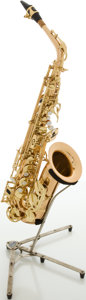 Musical Instruments:Horns & Wind Instruments, Recent Selmer La Voix Brass Alto Saxophone, #22705....