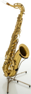 Musical Instruments:Horns & Wind Instruments, Circa Late 1930's King Voll-True II Brass Tenor Saxophone, #165491....