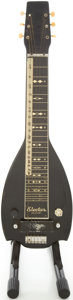 Musical Instruments:Lap Steel Guitars, 1940's Epiphone Electar Century Black Lap Steel Guitar, #3231....