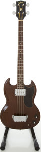 Musical Instruments:Bass Guitars, 1969 Gibson EB-0 Walnut Electric Bass Guitar, #845421....